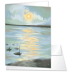 Impression: Sunrise Note Card (Blank) rosenthal by Micah Parker